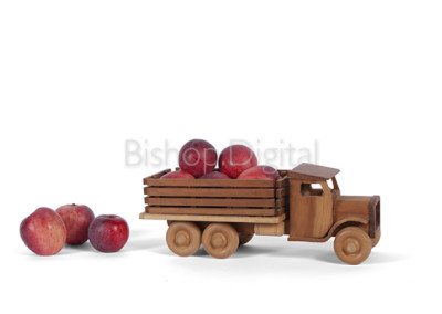 Toy Wooden Apple Truck