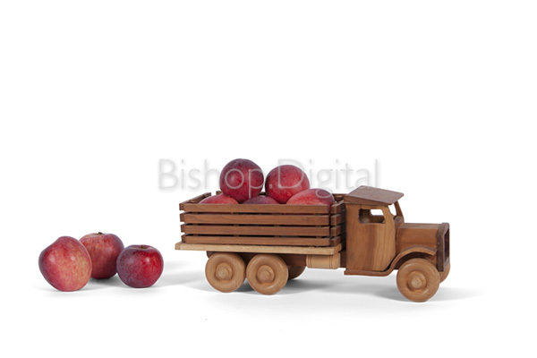 Toy Wooden Apple Truck