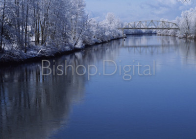 Snow Dusted River