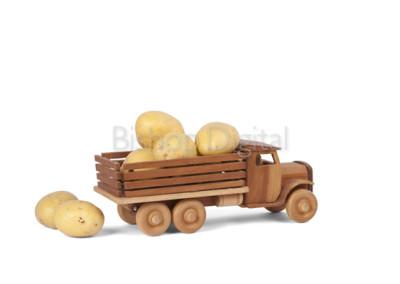 Toy Wooden Potato Truck