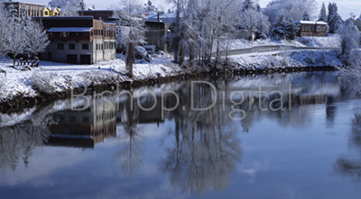 Snohomish River with a Snow Dusting