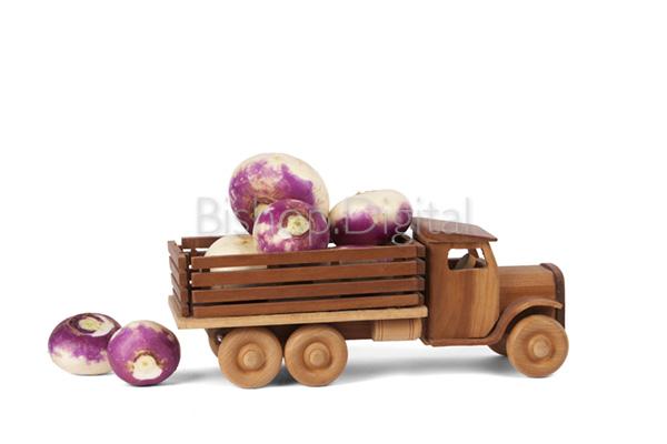Toy Wooden Turnip Truck