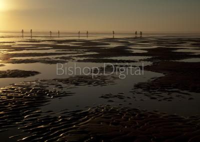 Walk on the Beach at Sunset